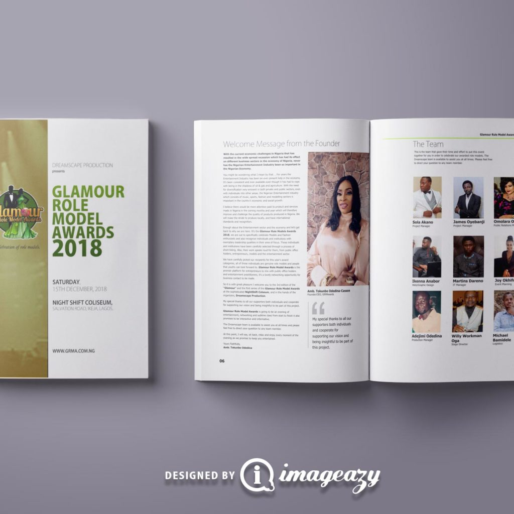 GRMA 2018 Glamour Role Model Awards Brochure
