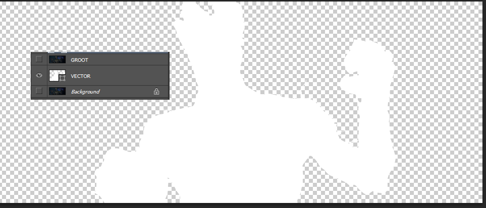 VECTOR layer after I remove background layer