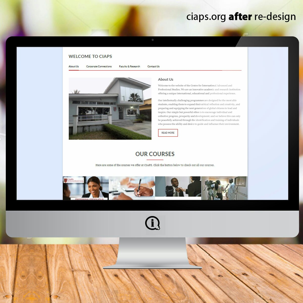 ciaps.org after imageazy revamp