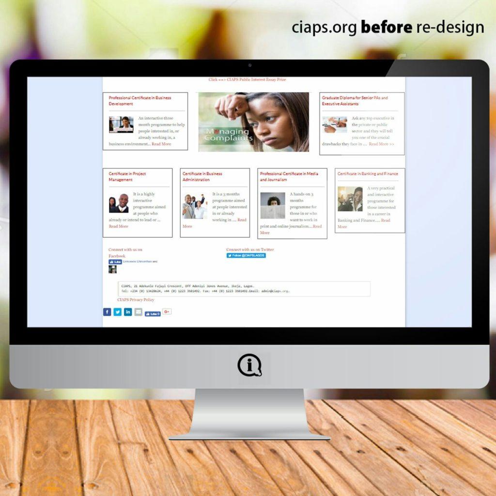 ciaps.org before imageazy revamp
