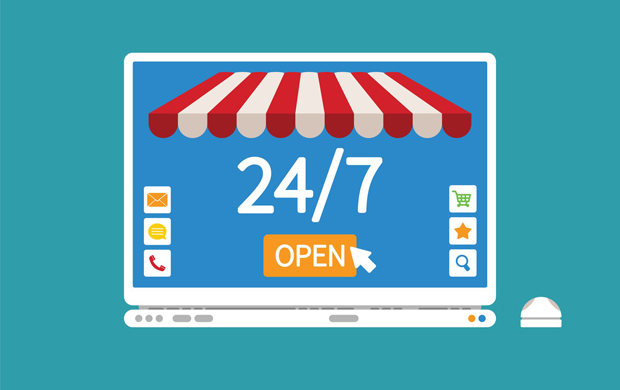 small businesses online are available 24/7