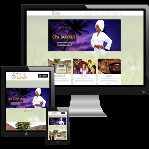 Web design Mockup of Sparoyale.ng