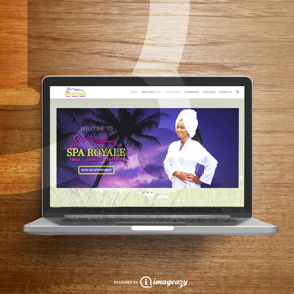 Spa Royale web design mockup