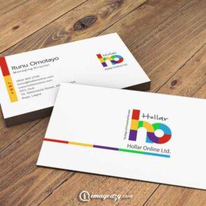 Hollar business card Design