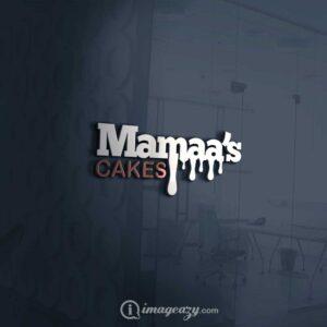 Mamaa's cakes logo mockup